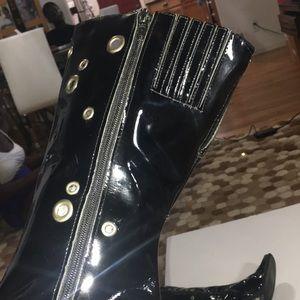 Rampage Shoes - Black patent leather fashion boots . Sz 71/2M